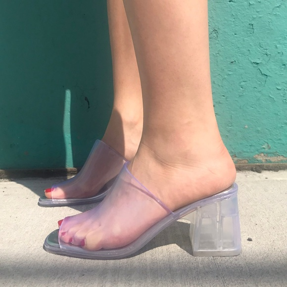 647dfae6a1a5 Jeffrey Campbell Shoes - Clear Jeffrey Campbell Petra Mules Size 7  RLY A 6